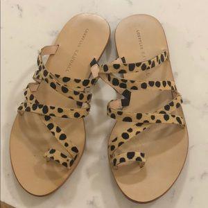 Loeffler Randal size 6 leopard sandal